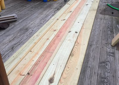 repaired deck